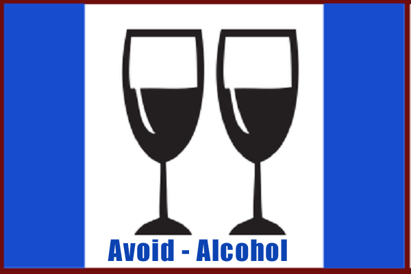 Flexon Warning- Avoid Alcohol